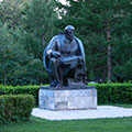 Monument to Lenin in the park Krasnaya Presnya