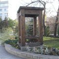 The monument to the first stool in Russia