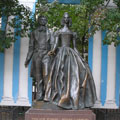 The monument to Alexander Pushkin and Nataliya Goncharova