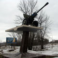 Monument to warrior-artillerymen in Stupino