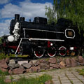 Monument to steam locomotive - Balashov